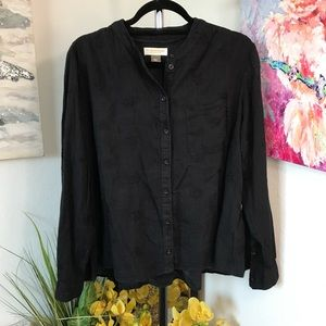 Anthro. Pilcro And The Letterpress Blouse Size S